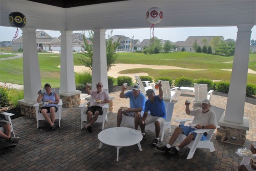 Plantation Lakes Members enjoying the patio