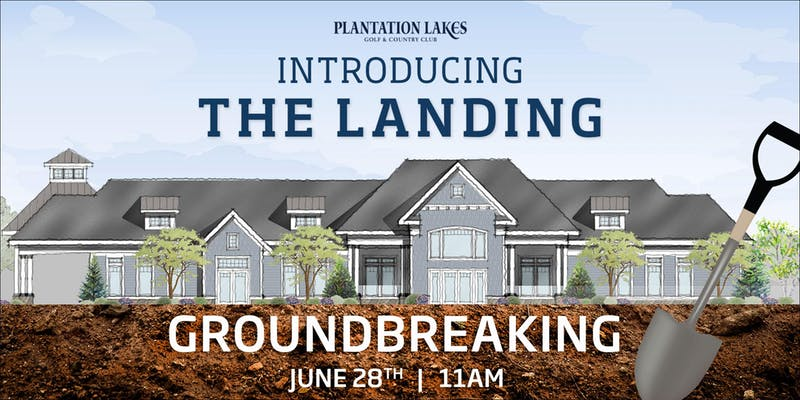 Plantation Lakes Ground Breaking Flyer